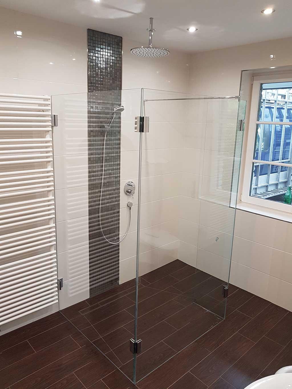 3 drei teilige Dusche | Mattusch Glas